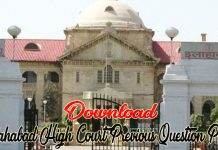 Allahabad High Court Previous Question Paper
