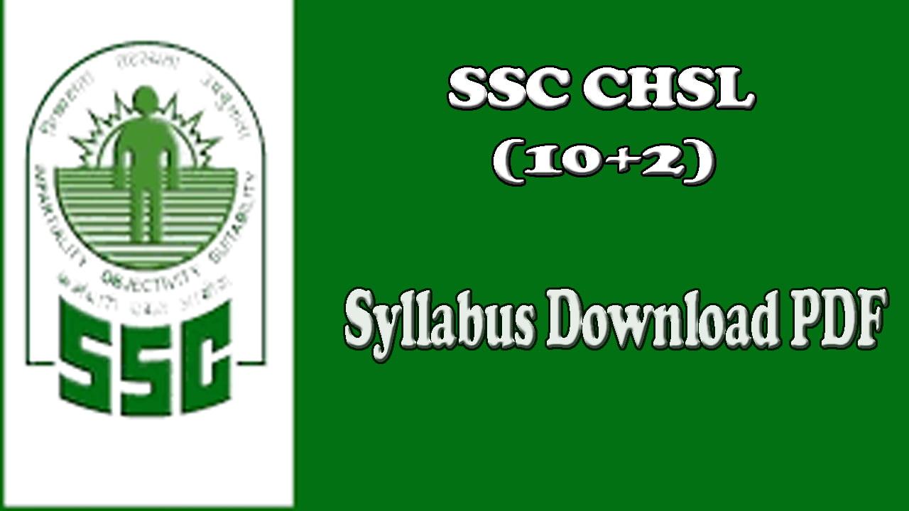 SSC CHSL Syllabus 2017