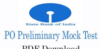 SBI PO Preliminary Mock Test