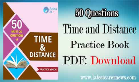 Time and Distance Practice Book