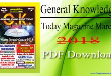 General Knowledge Today Magazine March 2018