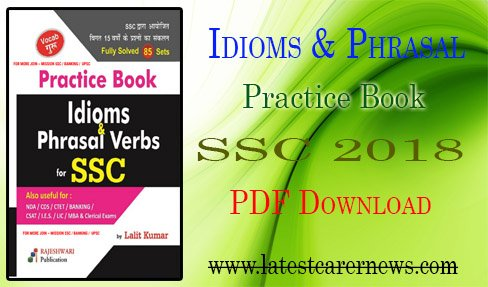 Idioms Phrasal Verb Practice Book for SSC 2018 PDF Download