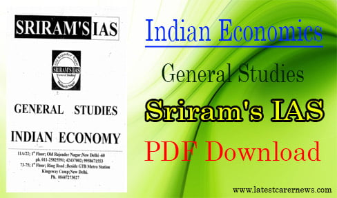 Indian Economics: General Studies Sriram's IAS PDF Download