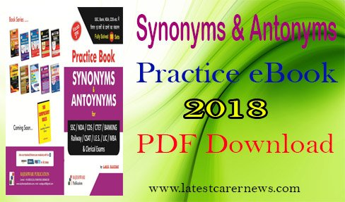 Synonyms Antonyms Practice eBook for Competitive Exams 2018