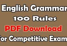 English Grammar Rules PDF