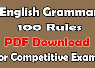 English Grammar Rules PDF