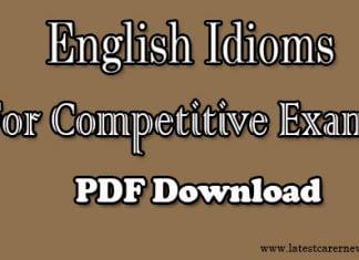 English Idioms PDF