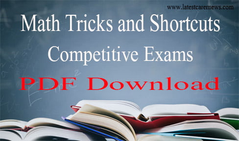 Math Tricks and Shortcuts for Competitive Exams PDF Download