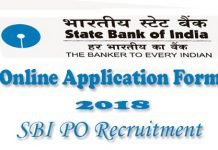 SBI PO Online Application Form 2018