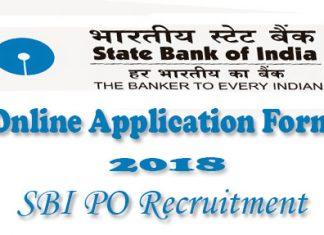 SBI PO Online Application Form 2018