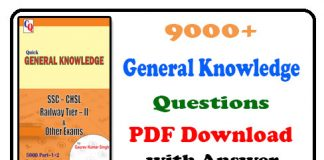 9000 General Knowledge Questions PDF