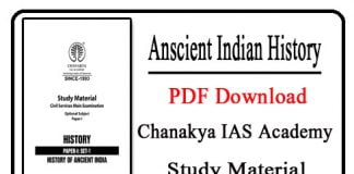 Anscient Indian History PDF