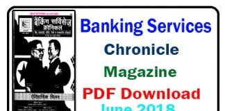 Banking Services Chronicle Magazine June 2018