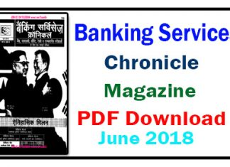 Banking Services Chronicle Magazine June 2018