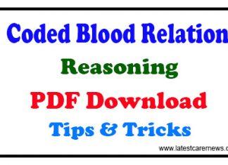 Coded Blood Relation Reasoning Tricks PDF