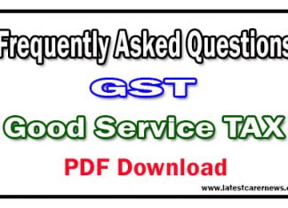 Frequently Asked Questions On GST