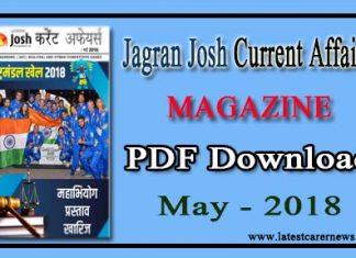 Jagran Josh Current Affairs Magazine May 2018