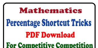 Percentage Shortcut Tricks PDF