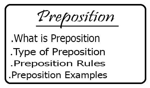 Preposition क्या है ? कैसे इस्तिमाल