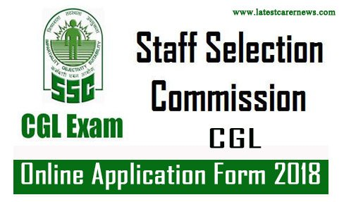 SSC CGL Graduation Level Online Application Form 2018
