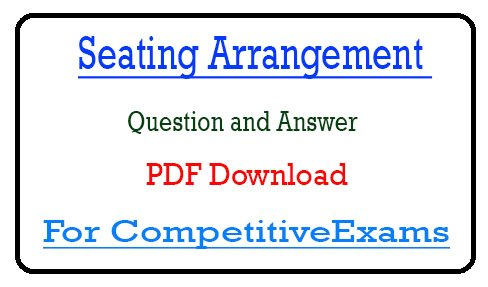 Seating Arrangement Questions PDF