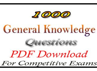 1000 General Knowledge Questions