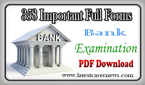 358 Important Full Forms Abbreviations