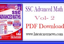 SSC Advanced Math PDF