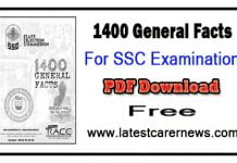 1400 General Facts