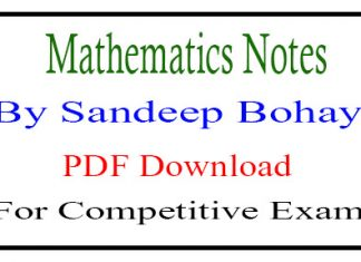Mathematics Notes