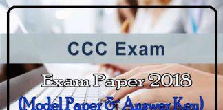 CCC Exam Paper 2018