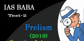 IAS BABA Prelims 2019 Test 2