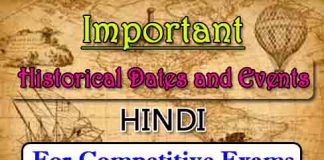 Important Historical Dates and Events