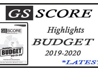 Highlights Budget 2019-2020