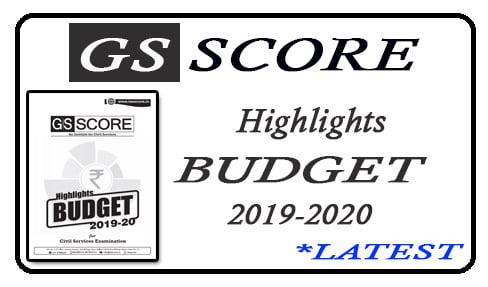 Highlights Budget 2019-2020