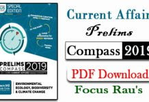 Current Affairs Prelims Compass 2019