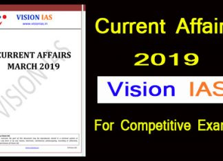 Vision IAS Current Affairs 2019