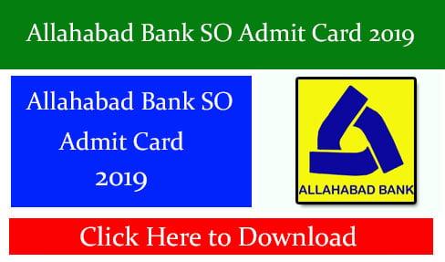 Allahabad Bank SO