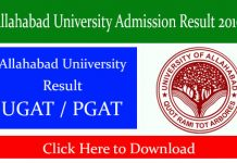 Allahabad University Admission Result 2019