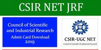 CSIR NET JRF