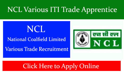 NCL Various ITI Trade Apprentice