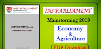 Economics and Agriculture I