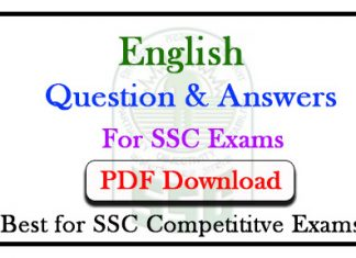 English Important Question and Answer