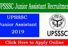 UPSSSC Junior Assistant Online Application Form