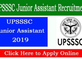 UPSSSC Junior Assistant Online Application Form
