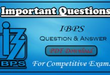 800 Question Ask in IBPS Examination