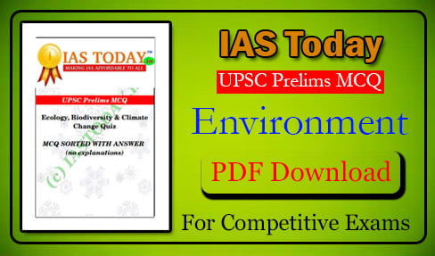 Environment MCQ (Multiple Choice Question) PDF For