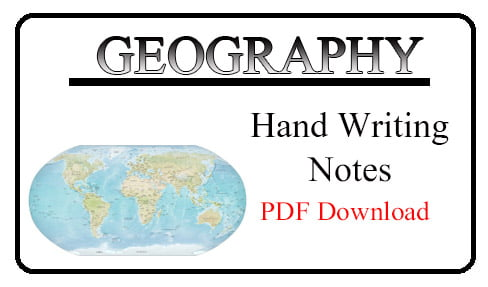 Geography Hand Writing Notes