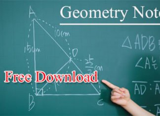 Geometry Hand Writing Notes