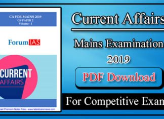 Latest Current Affairs 2019